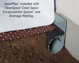 Crawl space drainage, encapsulation & drainage matting installation in Big Sky