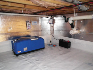 Crawl space drainage & dehumidification in Bozeman